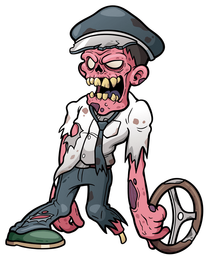 Zombie clipart free for kid