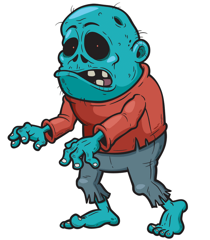 Zombie clipart free for kids