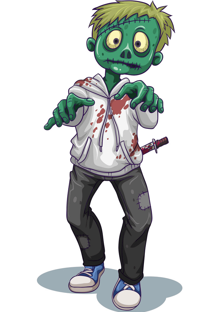 Zombie clipart free image