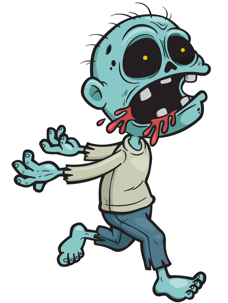 Zombie clipart free picture
