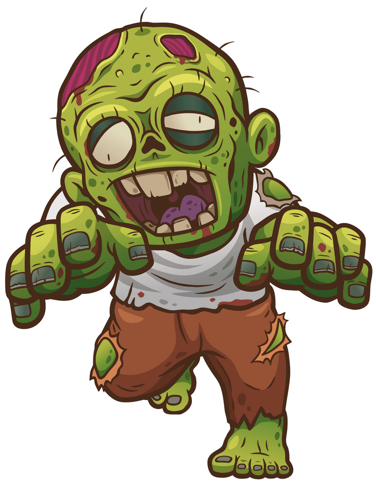 Zombie clipart free