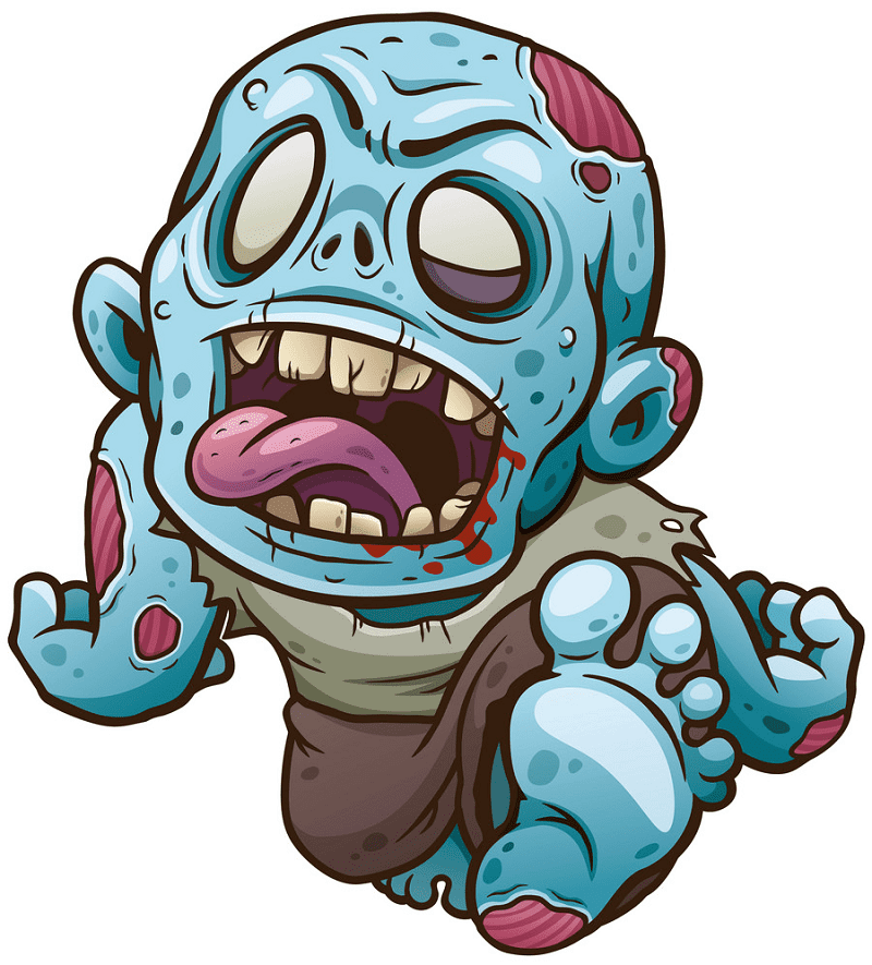 Zombie clipart picture