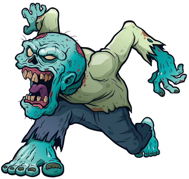 Zombie clipart png for kid