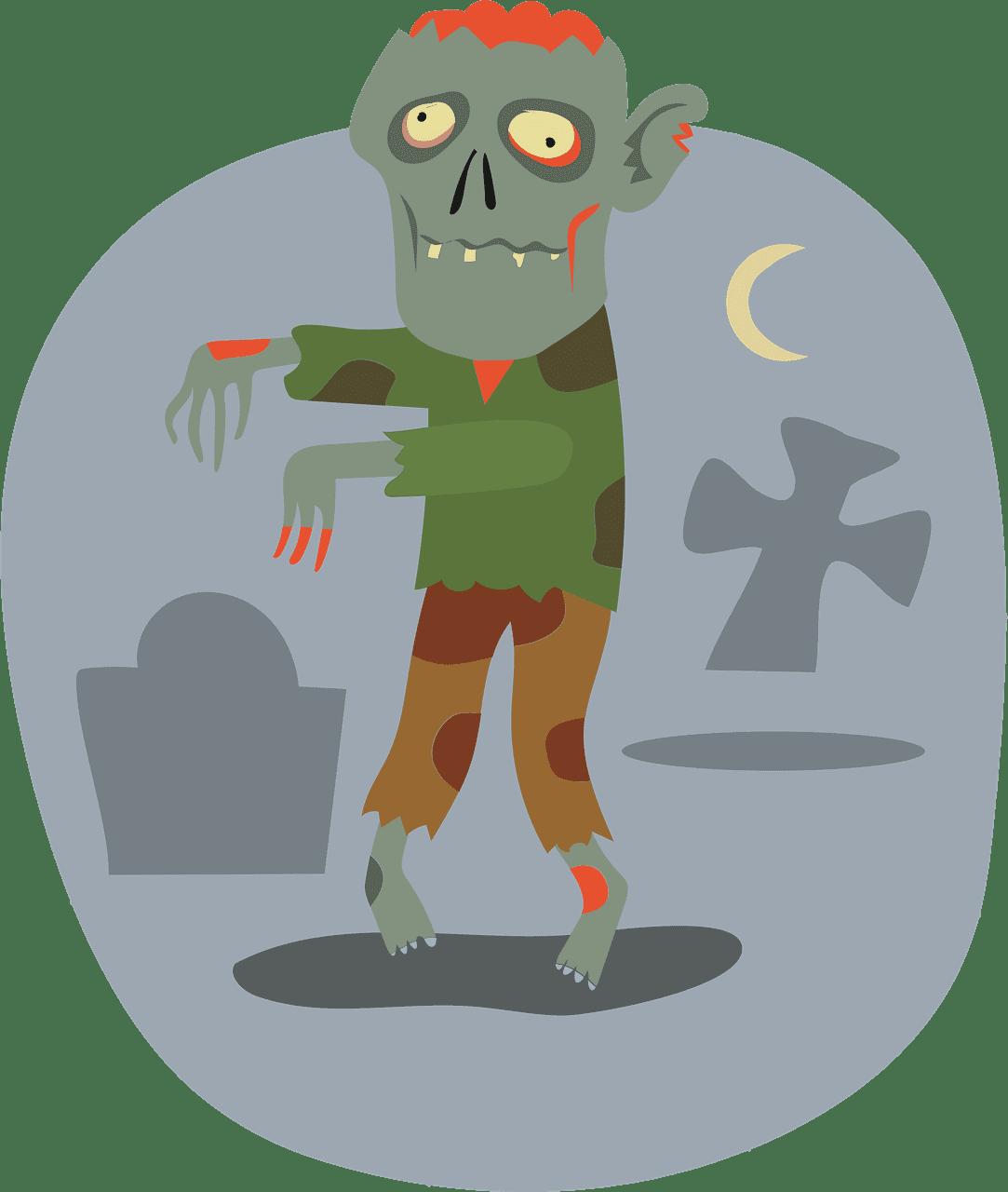 Zombie clipart transparent 2