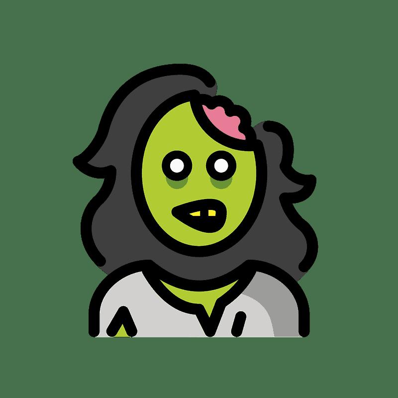 Zombie clipart transparent background 1