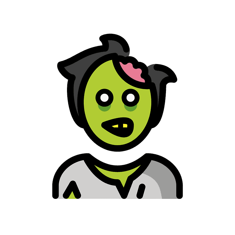 Zombie clipart transparent background 2
