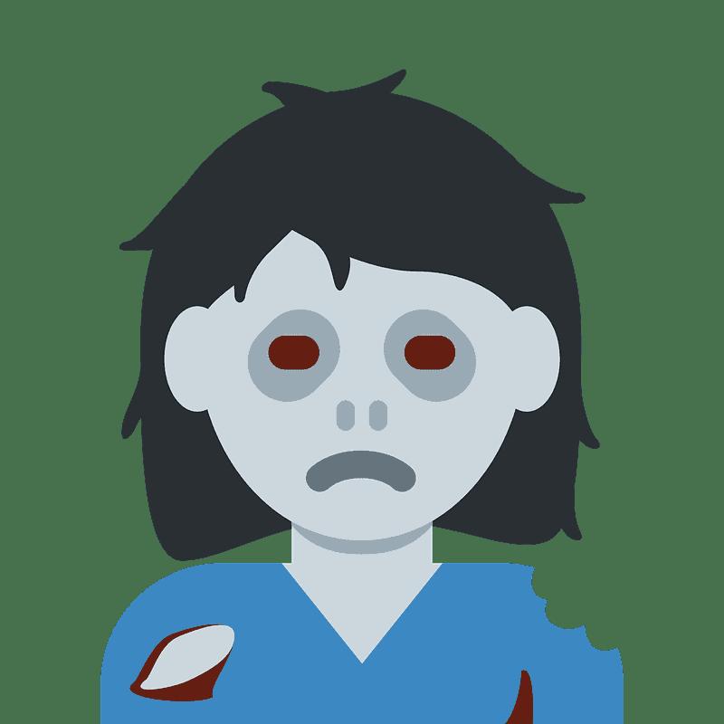 Zombie clipart transparent background 3