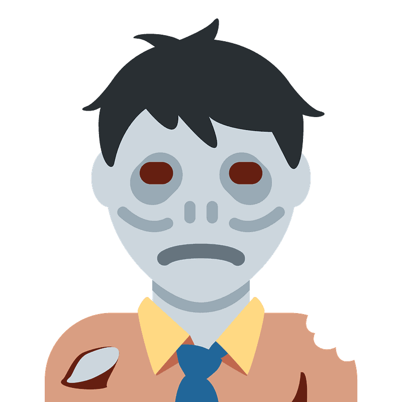 Zombie clipart transparent background 4