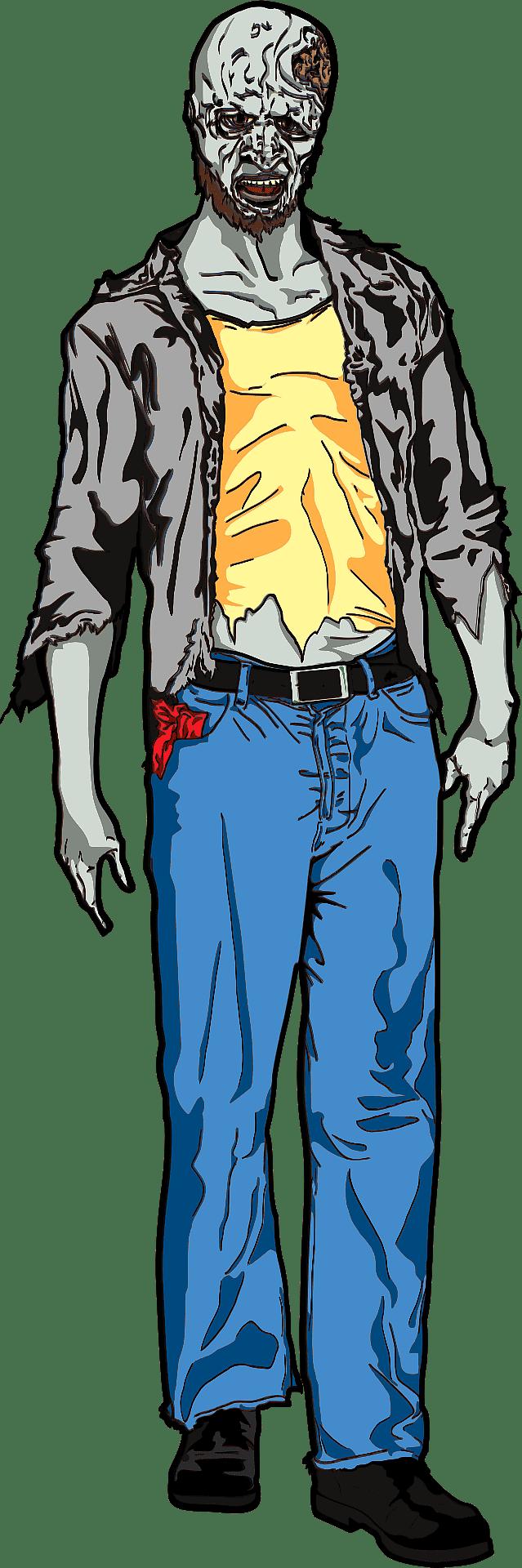 Zombie clipart transparent png