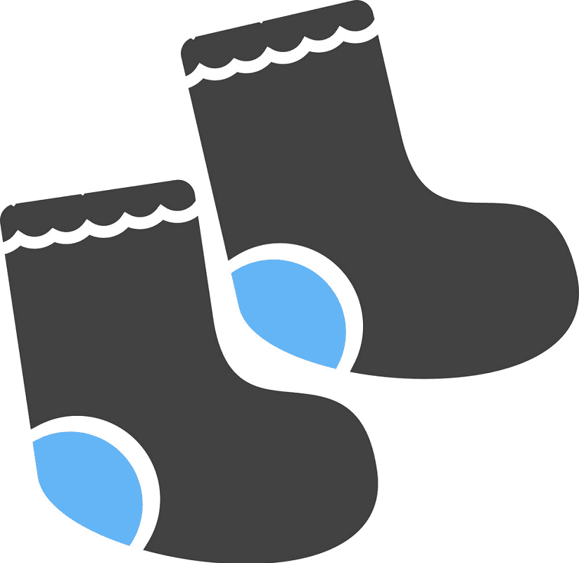 Baby Socks clipart for free