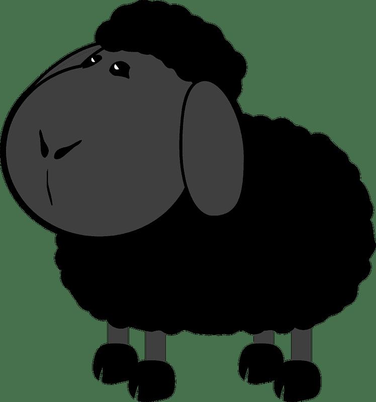 Black Lamb clipart transparent