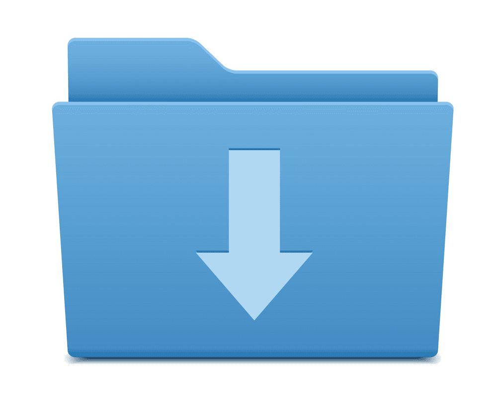 Blue Folder clipart download