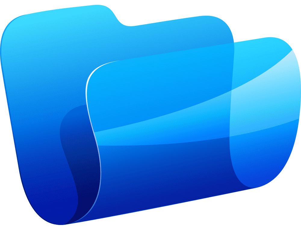 Blue Folder clipart image