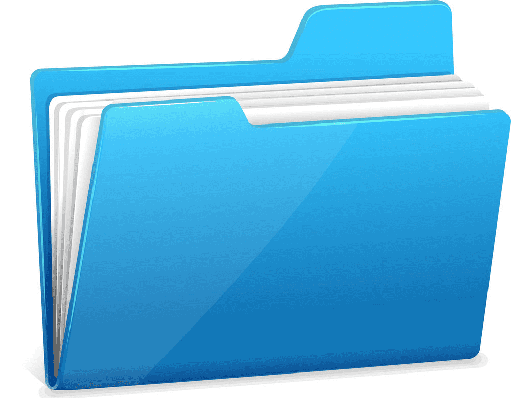 Blue Folder clipart images