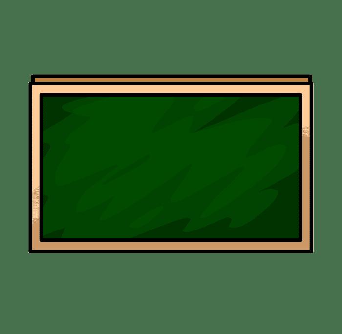 Chalkboard clipart free 6