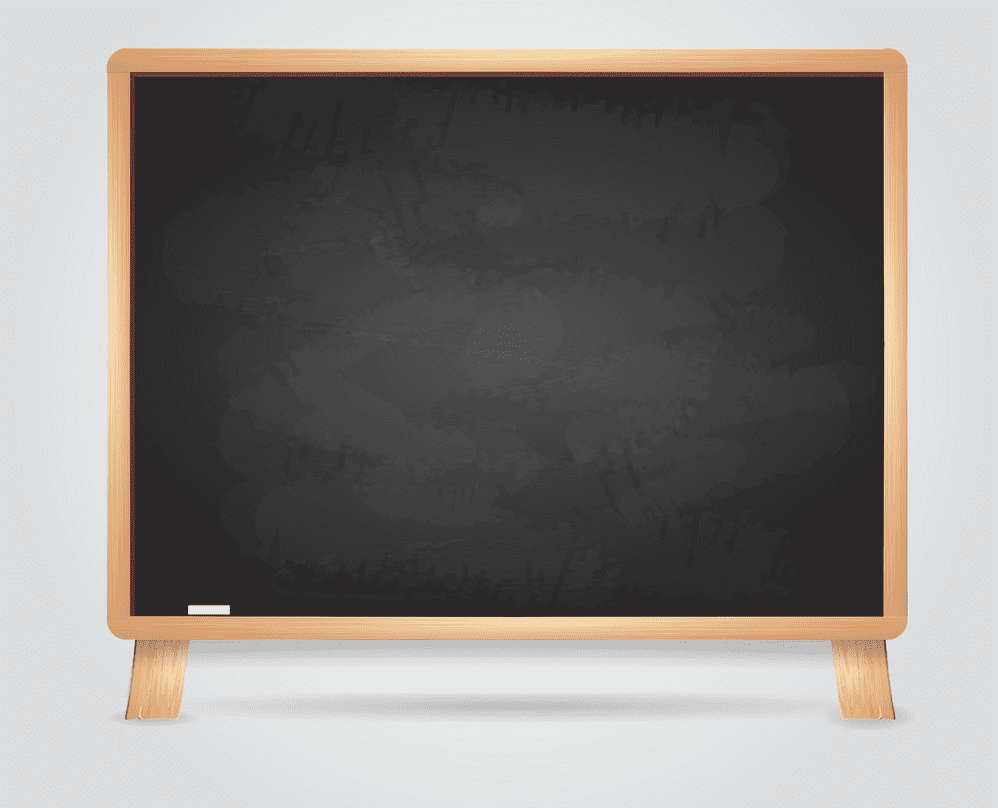Chalkboard clipart png for kid