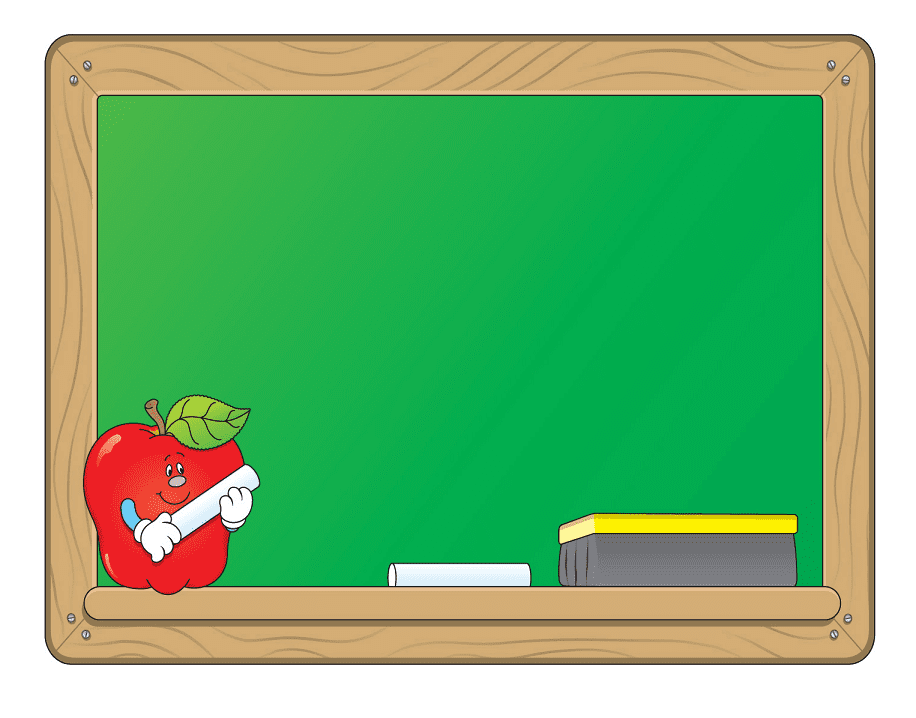Chalkboard clipart png for kids