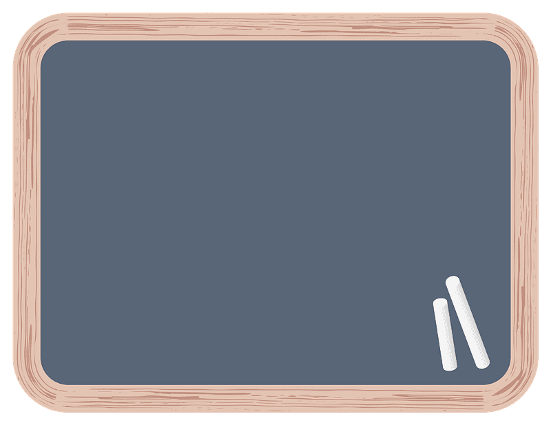 Chalkboard clipart transparent background 2