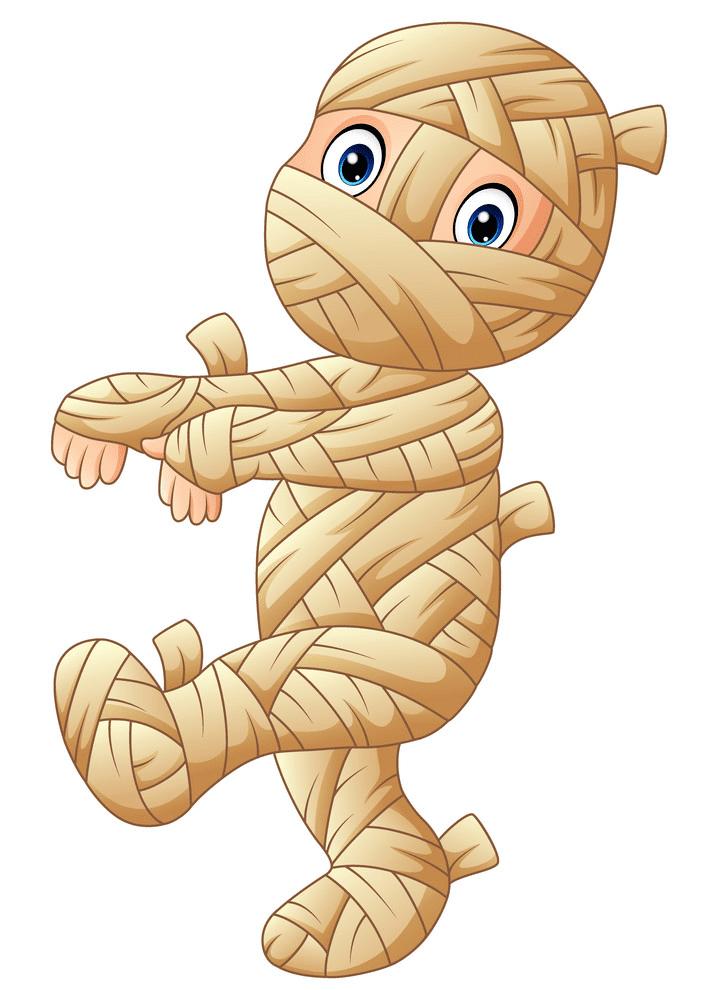 Cute Mummy clipart for kid