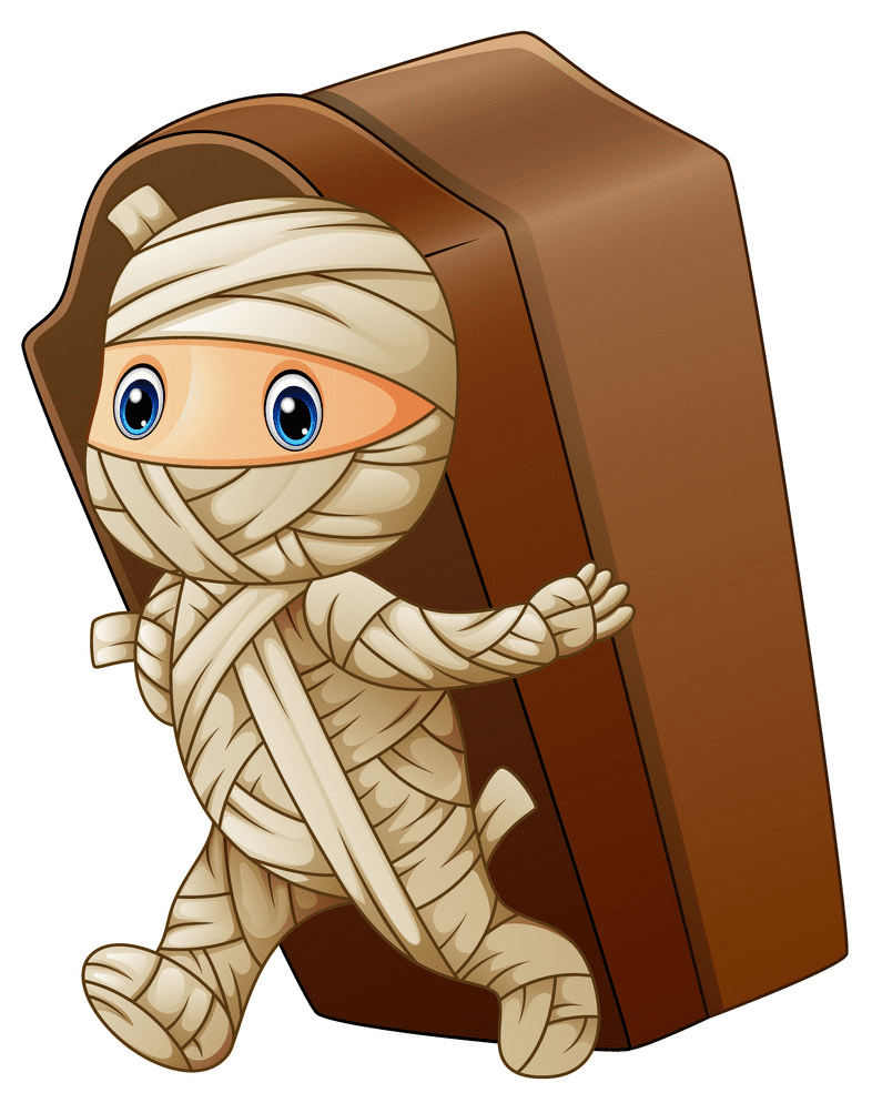 Cute Mummy clipart for kids