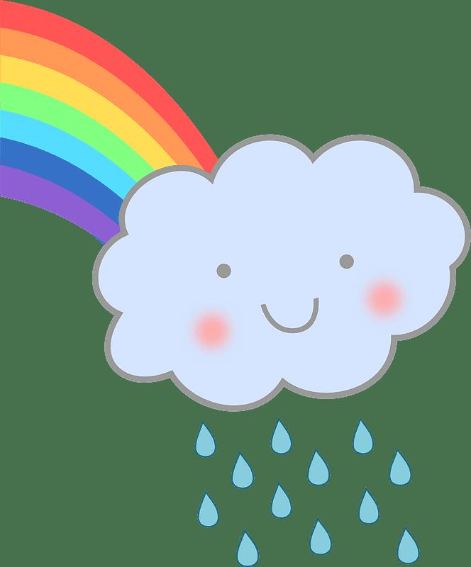 Cute Rain Cloud clipart transparent