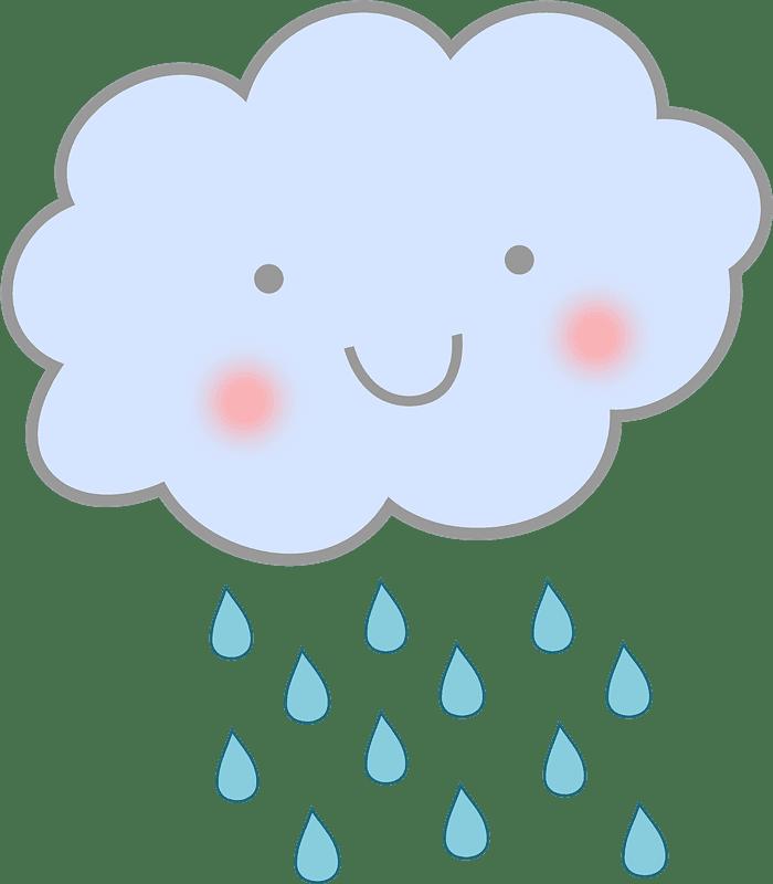 Cute Rain clipart transparent