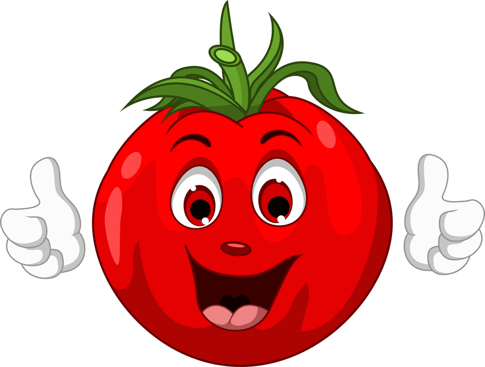 Cute Tomato clipart for free
