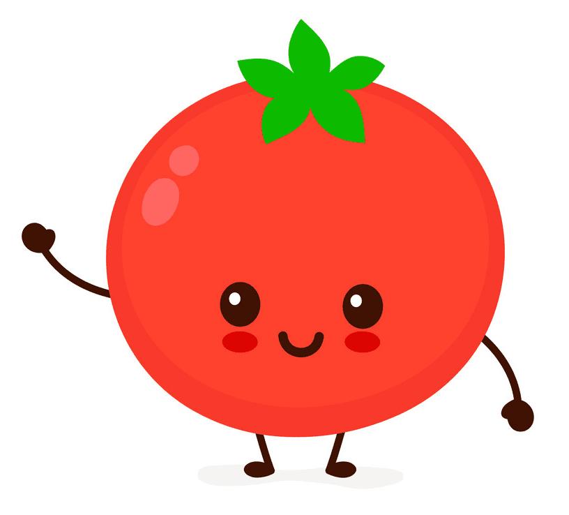 Cute Tomato clipart free