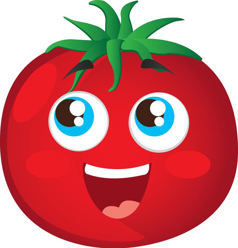 Cute Tomato clipart image