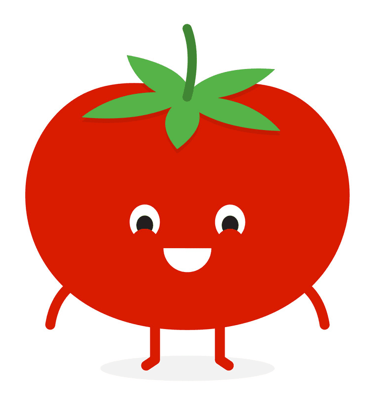 Cute Tomato clipart images