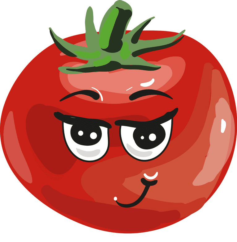 Cute Tomato clipart png