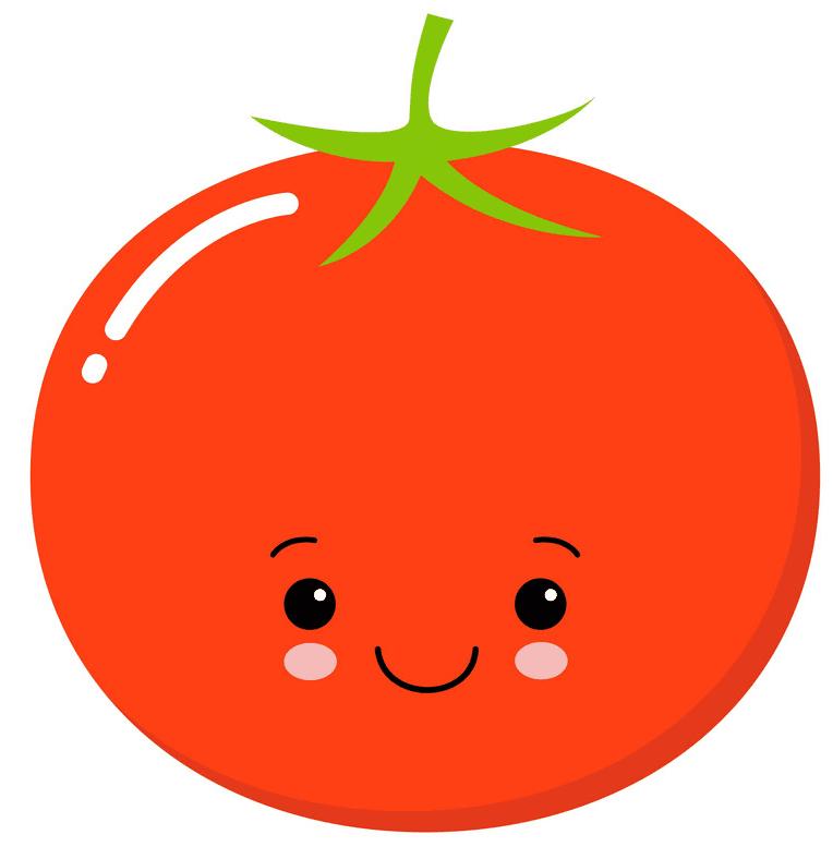 Cute Tomato clipart