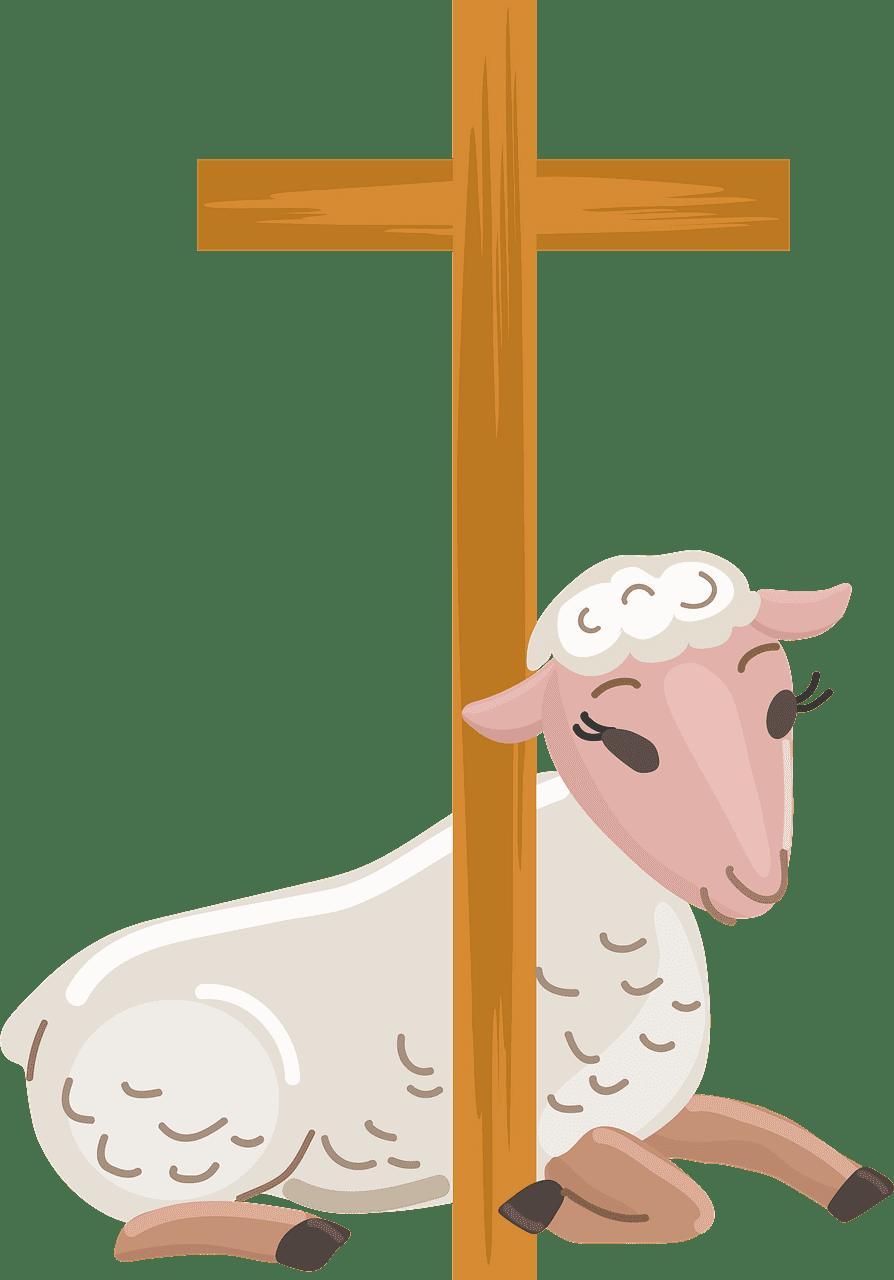 Easter Lamb clipart transparent