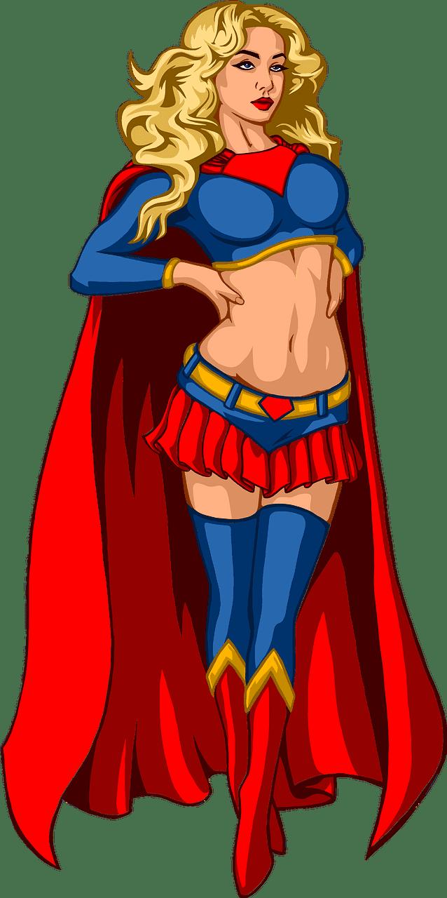 Female Superhero clipart transparent
