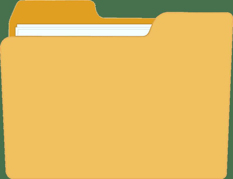 File Folder clipart transparent