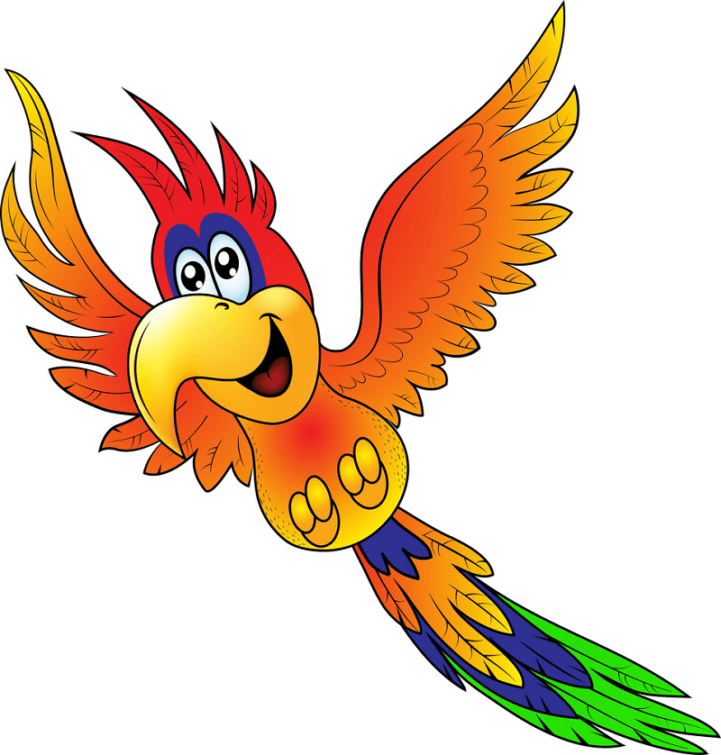 Flying Parrot clipart for free
