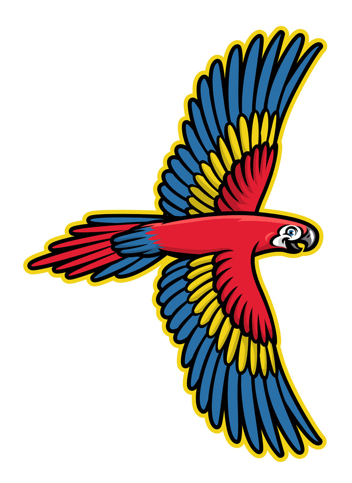 Flying Parrot clipart picture