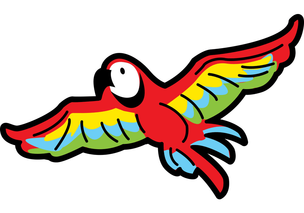 Flying Parrot clipart png