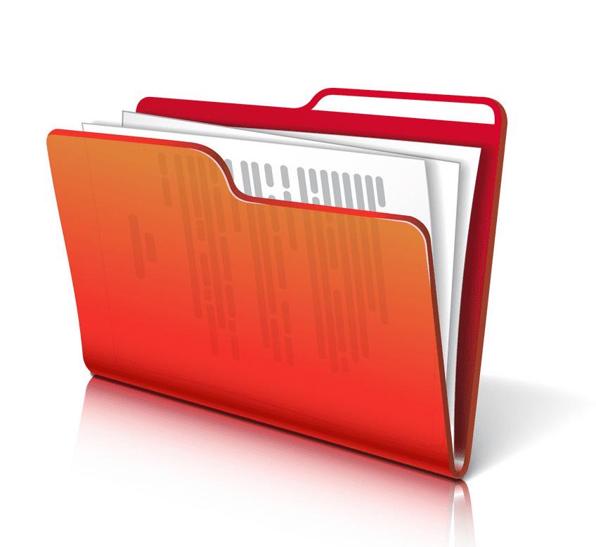 Folder clipart for kid
