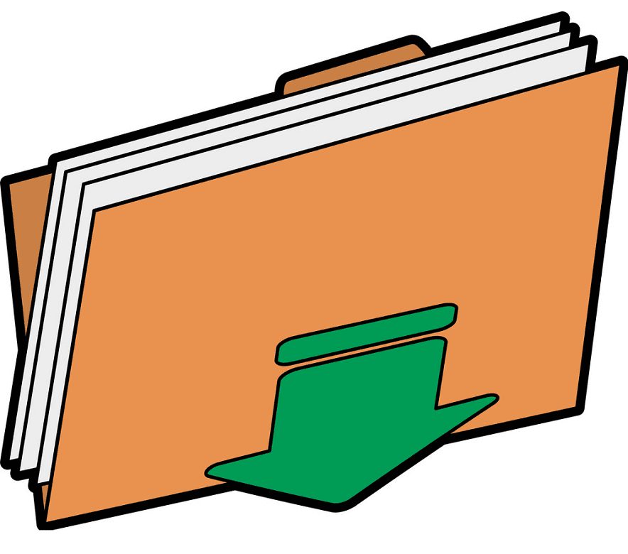 Folder clipart free picture
