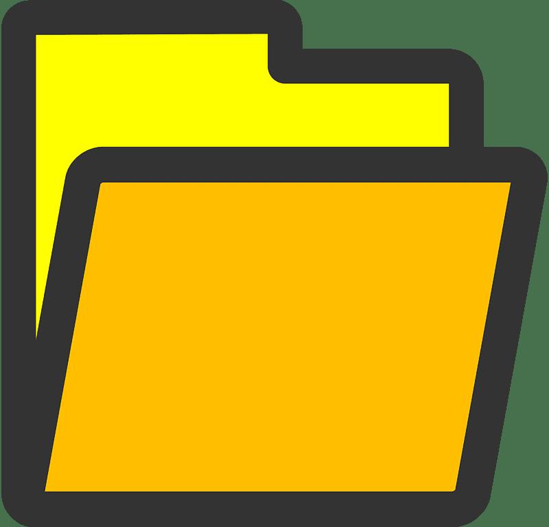 Folder clipart transparent background 2