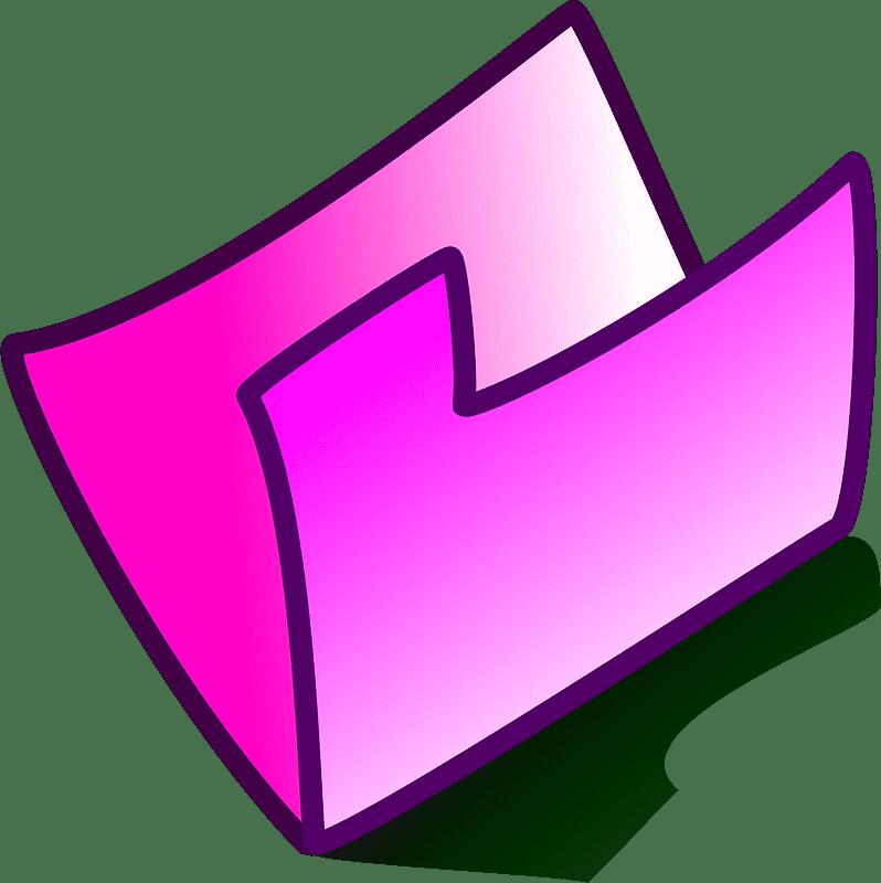 Folder clipart transparent for kid