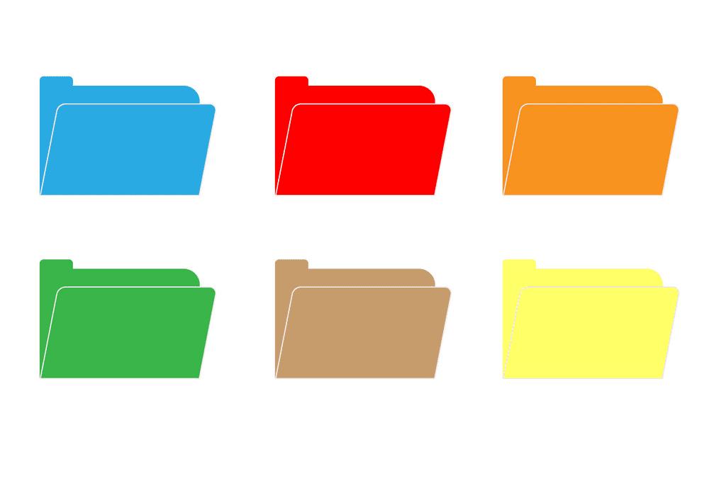 Folders clipart