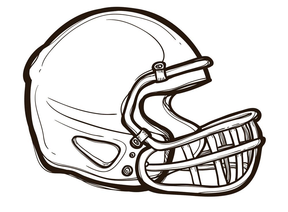 Football Helmet clipart png for kids