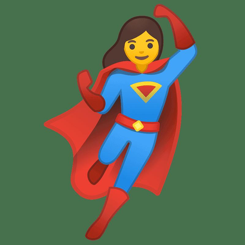 Girl Superhero clipart transparent