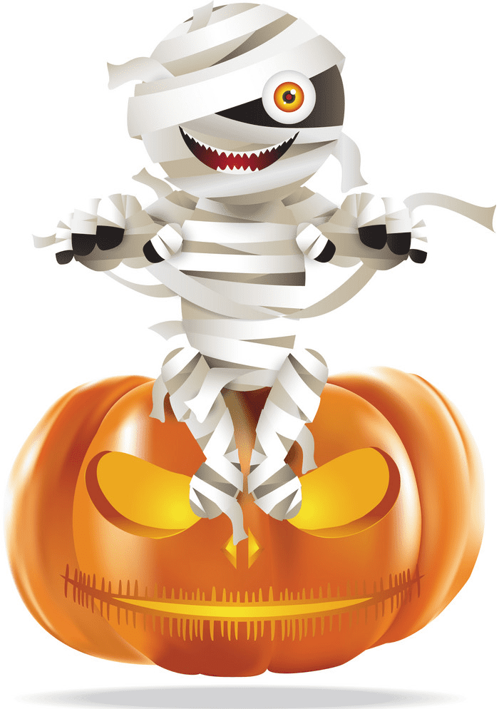 Halloween Mummy clipart for free