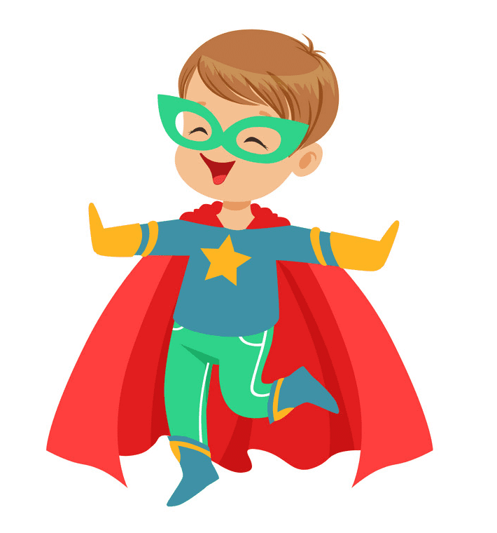 Kid Superhero clipart for free