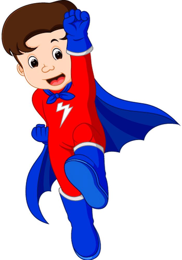 Kid Superhero clipart for kids