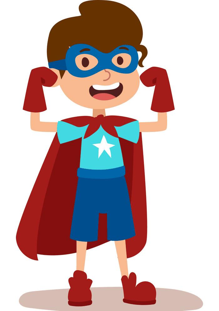 Kid Superhero clipart free
