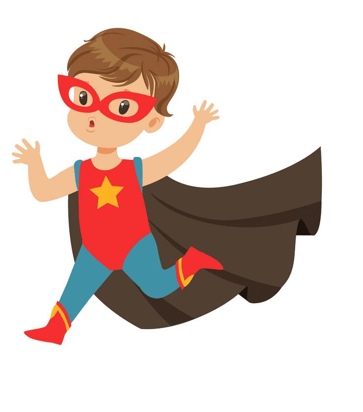 Kid Superhero clipart image